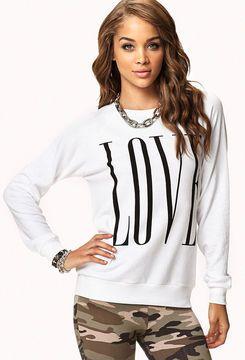 FOREVER 21 Love Raglan Sweatshirt