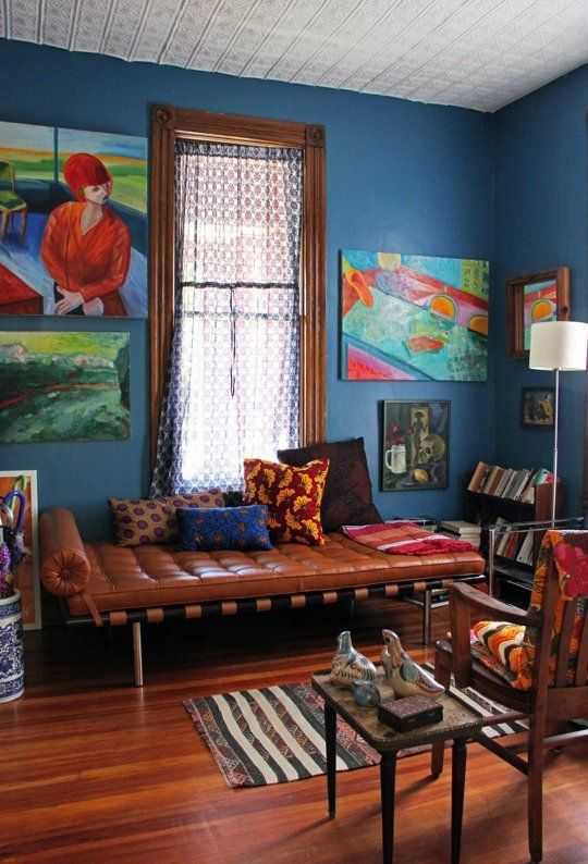 Bright colors different patterns and textures create a beautiful bohemian style via apttherapy