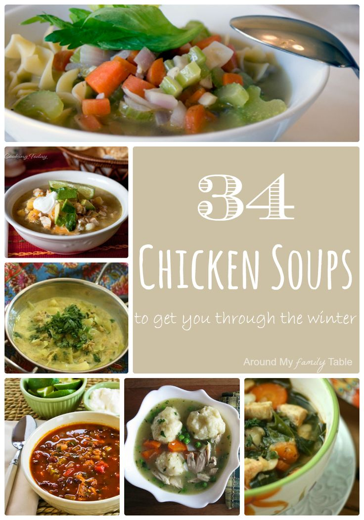 34 Chicken Soups to get you through the Winter (and cold season)!   #NSAmbassador