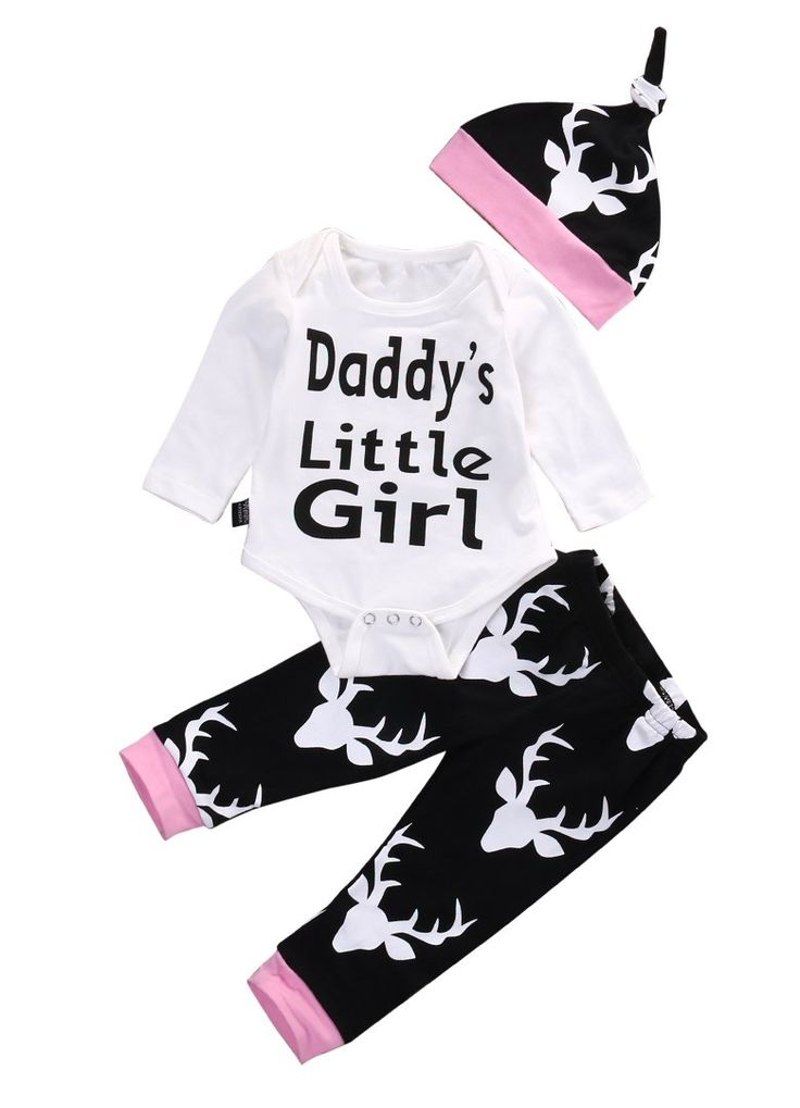 Daddy's Little Gi...  Buy it from our website   http://presentbaby.myshopify.com/products/daddys-little-girl-romper-set?utm_campaign=social_autopilot&utm_source=pin&utm_medium=pin    baby girl clothes, baby boy clothes, baby clothes, baby shower