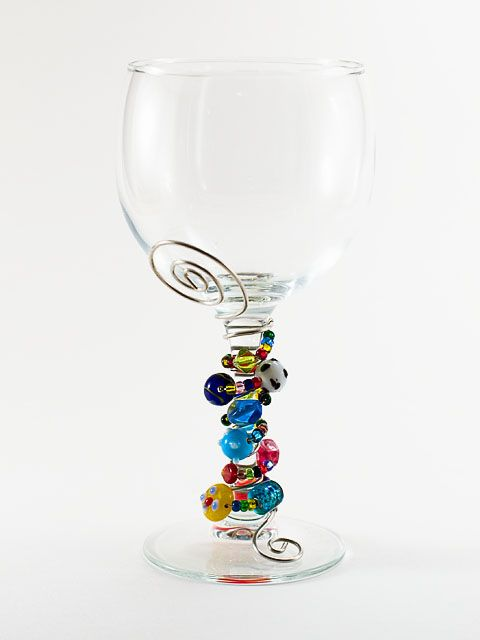 wire wrapped wine glasses