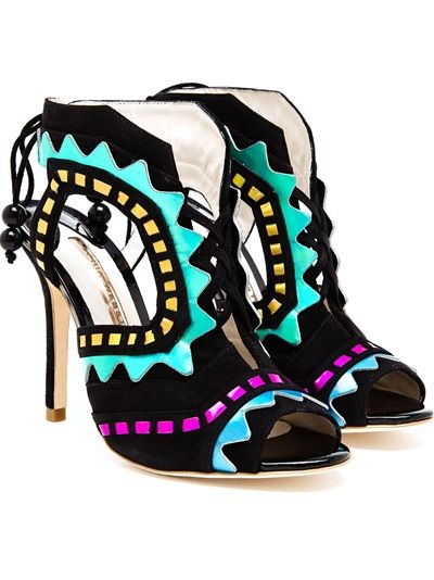 #SOPHIAWEBSTER - Riko Suede and #Leather #Aztec #Pumps #shoes #fashion