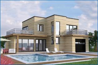 maison en bois norme BBC surface 169 m. www.courtier-maison.com