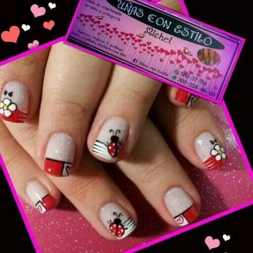 #nails #ladybug
