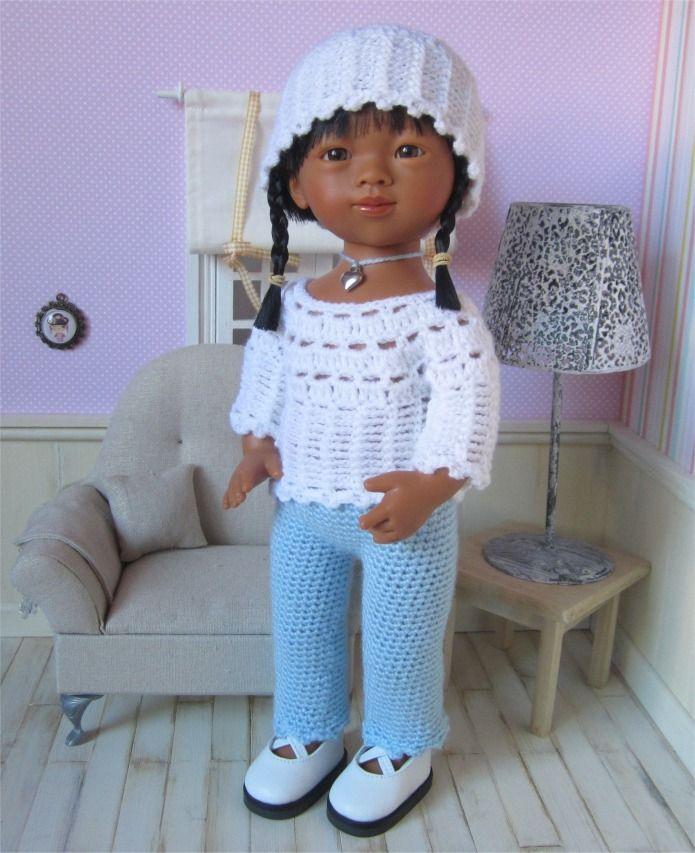 107- FICHE PATRON CROCHET Tenue Adeline pour poupée Marietta D'Nenes : Jeux, jouets par atelier-crochet