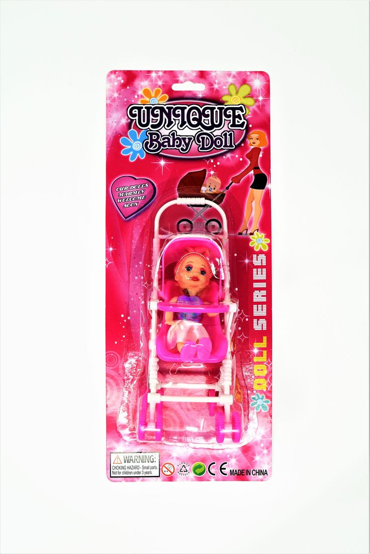 Unique Baby Doll & Stroller Set