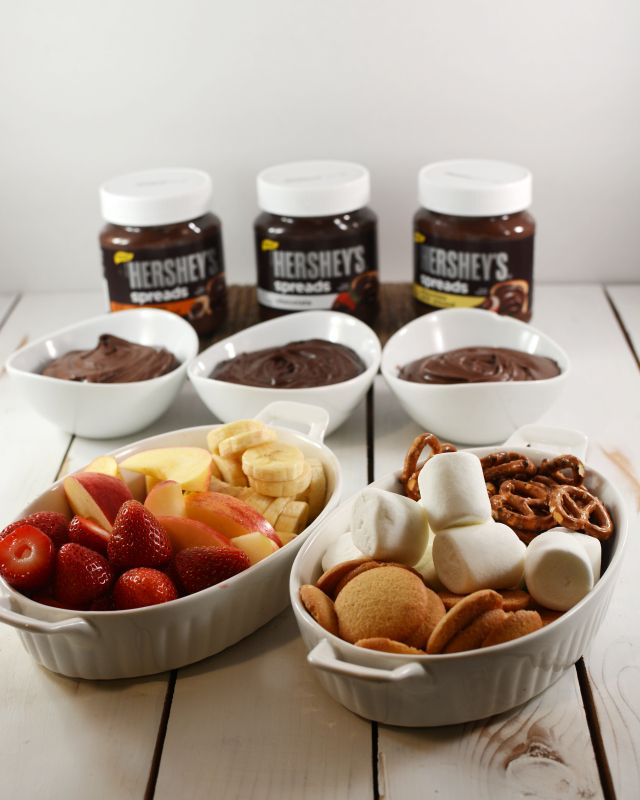 "Easy Chocolate ""Fondue"" - great for a holiday party #lmldfood"