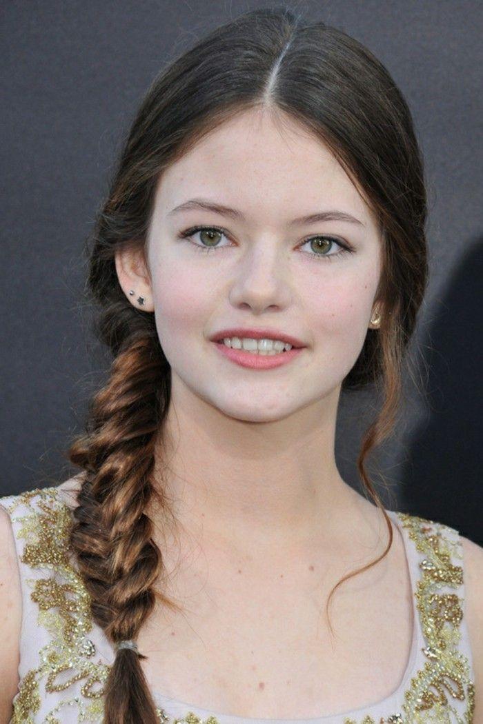 coiffure avec tresse très girly et esthétique pour une jeune demoiselle élégante