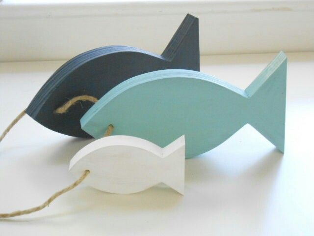 Wooden fishes for bathroom
