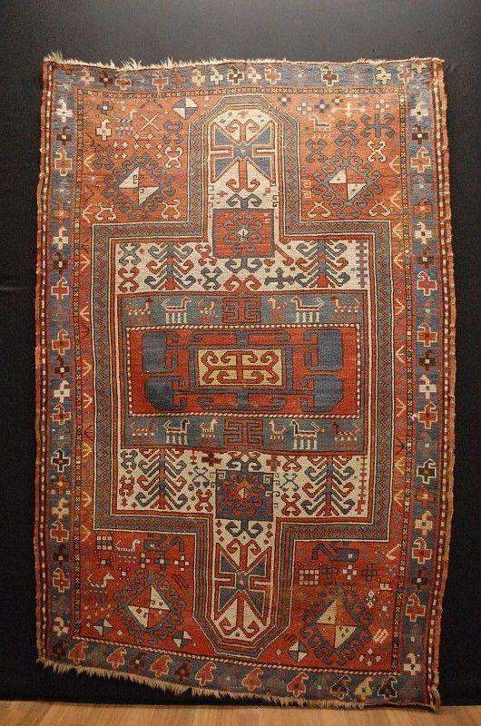Ancien Kasak kauksien tapis d Orient ca:200x130cm rug tappeto tapis   eBay
