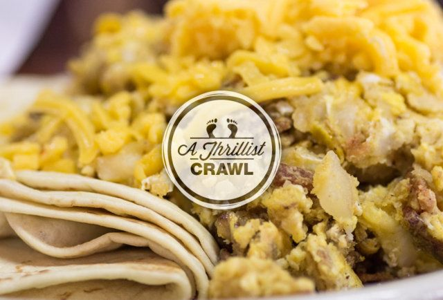 A delicious breakfast taco-Austins Best Breakfast Taco Crawl