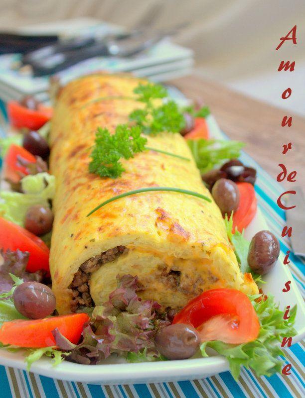 roulé de pomme de terre a la viande hachée - Amour de cuisine