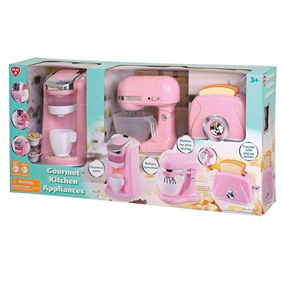 Gourmet Kitchen Appliances Pink Little Girl Toys Kids Play Kitchen Baby Girl Toys