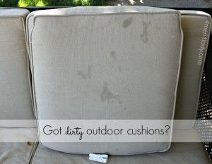 Cleaning outdoor cushions