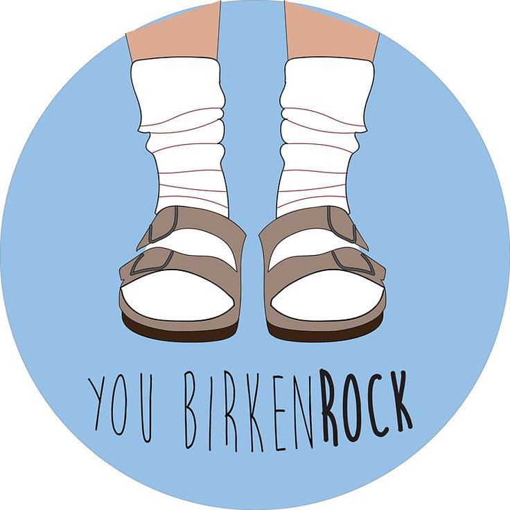 """Birken-rock"" Stickers by Hannah Byers 