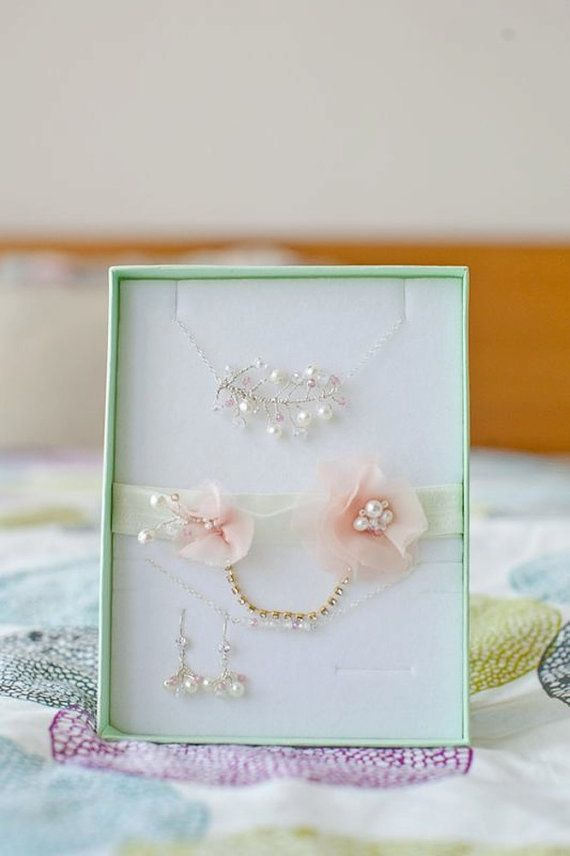 Bridal Pink Garter Gold Rhinestone Garter Gold by LuciaStofej
