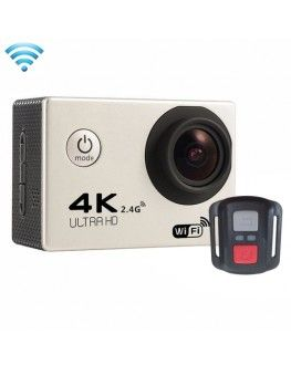 F60R 2.0 inch Screen 4K 170 Degrees Wide Angle WiFi Sport Action Camera Camcorder with Waterproof Housing Case & Remote Controller, Support 64GB Micro SD Card(Silver)