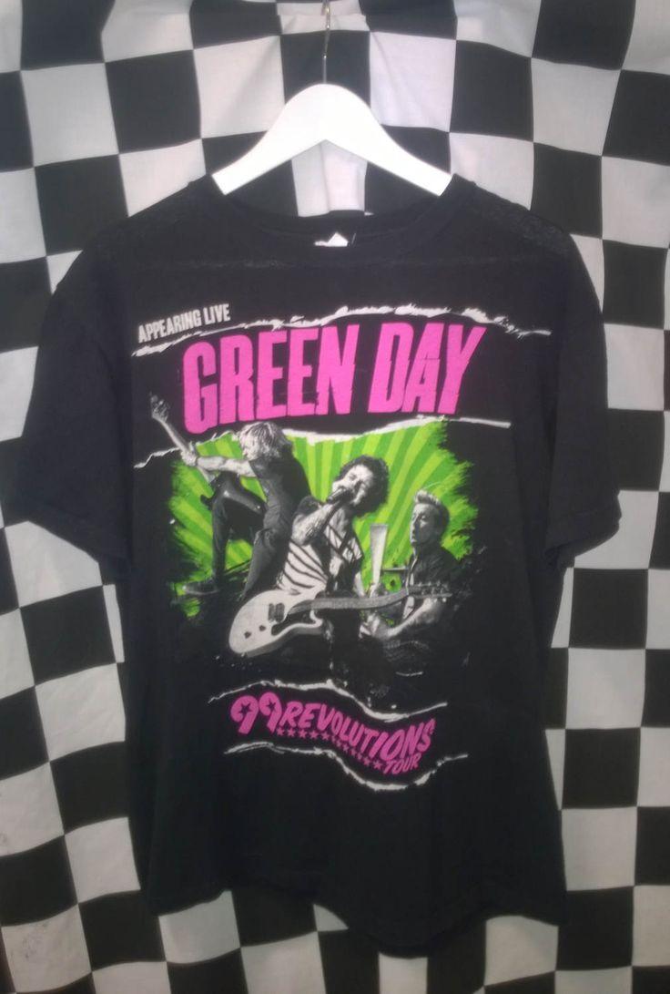 Vintage 90s Band T shirt Green Day band t shirt VINTAGE1990s BAND TSHIRT Green Day Anvil T shirt black M medium Men M Anvil t shirt by VirtageVintage on Etsy