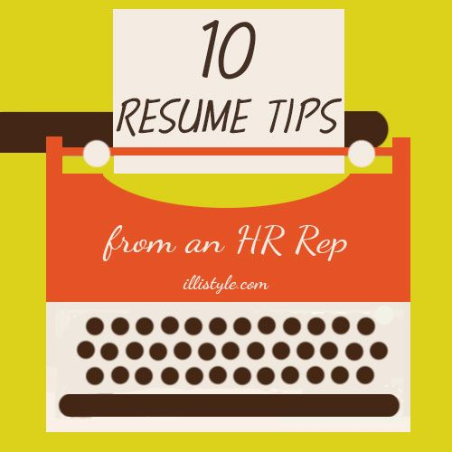 10 resume writing tips from an HR Rep - Are you job hunting or know someone who is? These tips can help!
