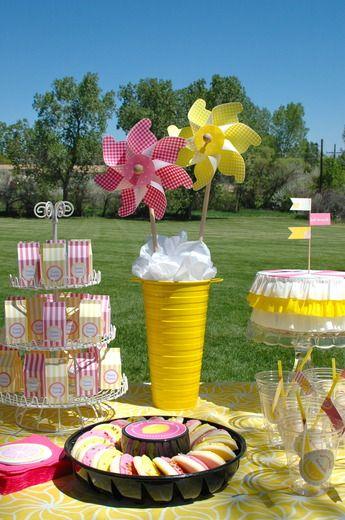 Best pink lemonade baby shower images on pinterest