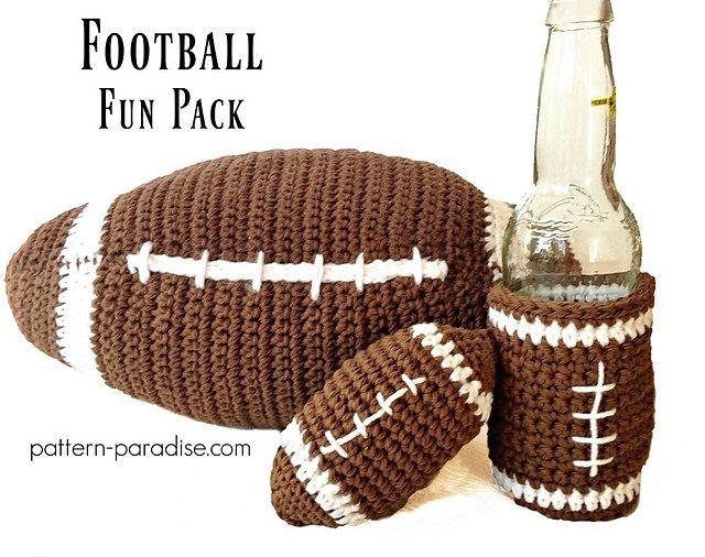 Crochet Pattern: Football Fun Pack, Touch Down! | Pattern Paradise