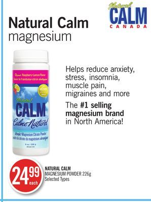 Natural Calm Magnesium Powder on sale | Salewhale.ca The Most Bioavailable Magnesium Available!