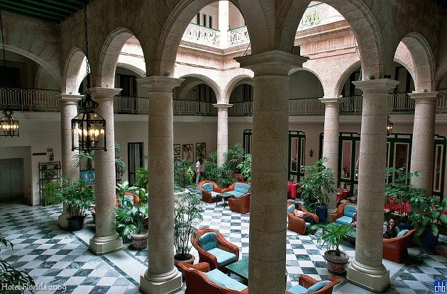 Dating back to the 19th Century, Hotel Florida is a beautifully restored colonial hotel in the heart of old Havana. Description from cubaism.ca. I searched for this on bing.com/images
