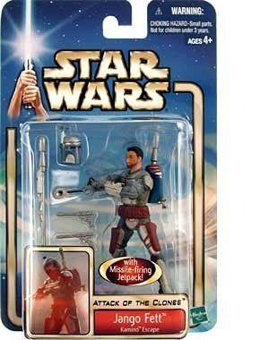 3 X Star Wars Saga 2002 Attack of The Clones Jango Fett Kamino Escape @ niftywarehouse.com #NiftyWarehouse #Geek #Products #StarWars #Movies #Film