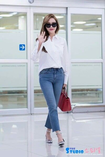 Jessica Jung At Gimpo Airport Back From Beijing.