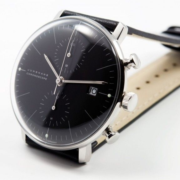 max bill chronoscope noir junghans watches design junghans pinterest uhren. Black Bedroom Furniture Sets. Home Design Ideas