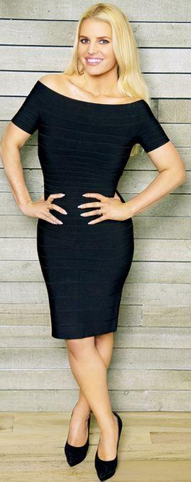 Off the shoulder short sleeve black dress
