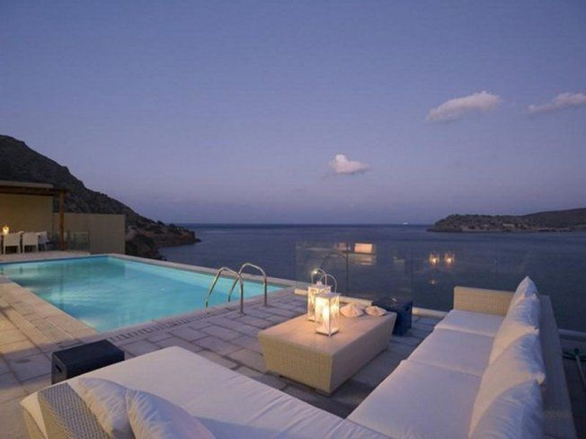 Beauty of the night in the swimming pool Elounda Beach Hotel and Villa Complex