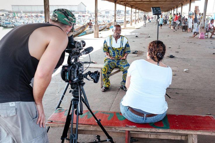 Tema Fishing Port - Chief Fisherman, Nii Odametey II, Megan & Jasyn