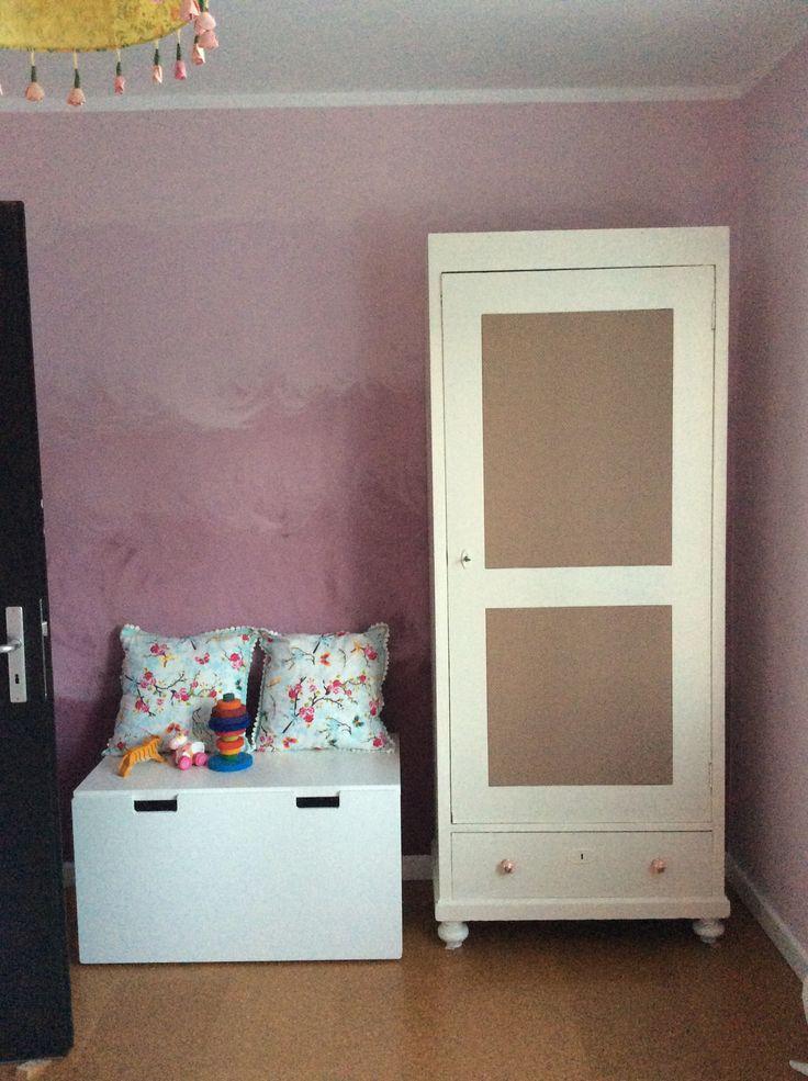 Wandfarbe, Kleiderschrank, Kinderzimmer #wohnen #einrichten #Lifestyle #Kindermöbel