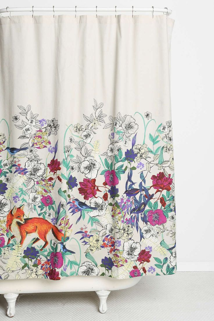 Plum & Bow Forest Critters Shower Curtain