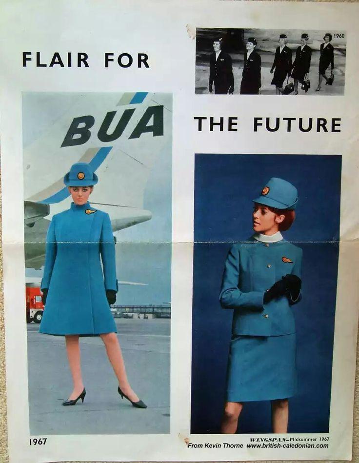 BUA British United Airways stewardess 1967