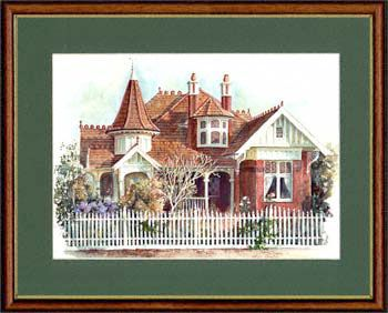 Olga Gostin… Australian Queen Anne House, Camberwell, Victoria. Australia…  A romantic profusion of gables and turrets gives this Australian Queen Anne house an almost fairytale appearance. At the turn of the century, a new architectural style evolved in Australia. People were abandoning convention and felt a need to escape from the uniformity of inner-city terraces.