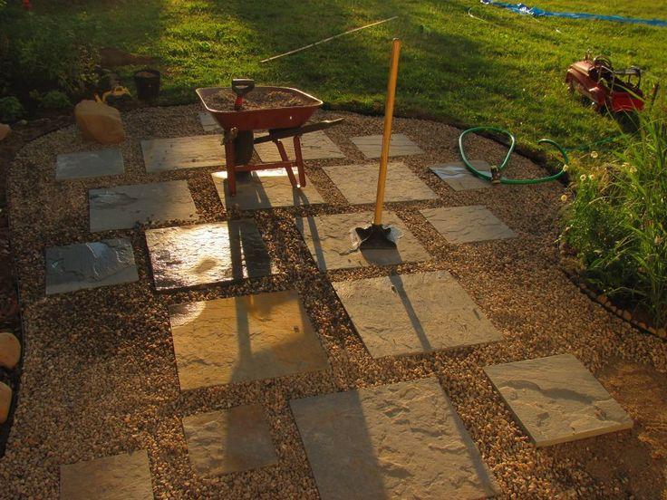 in pea gravel patio, diy, good for drainage Peas Gravel Patio, Patio