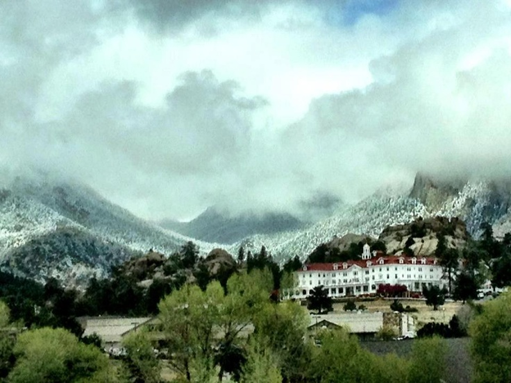 "Estes Park's Stanley Hotel in Colorado near Rocky Mountain National Park.  this hotel was the inspiration for Stephen King's The Shining, the place where Dumb & Dumber was shot, and has been featured on many ghost hunting shows for its famous ""guests"". Beautiful shot!"