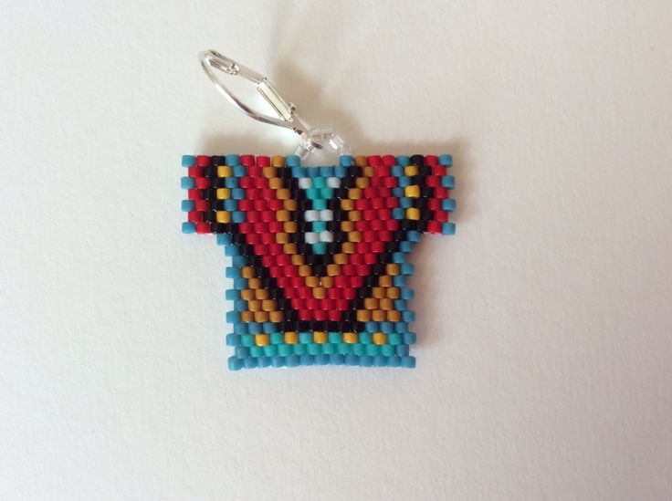 Beaded Earrings Tribal Shirt Delica beaded Ready
