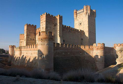 Castillo de la Mota de Medina del Campo con su Torre del Homenaje. Medina del Campo. Valladolid. España. @SKdualsim
