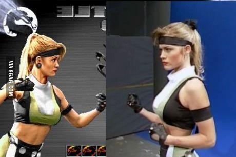 Kerri Hoskins as Sonya Blade in Mortal Kombat 3