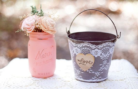 lace flower girl pail - 8 Perfect Ceremony Accessories