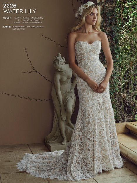 Water Lily (Caramel) gown from the 2016 Casablanca Bridal collection, as seen on dressfinder.ca