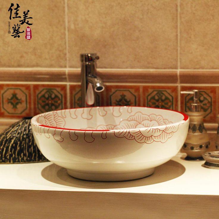 Дешевое Карамель свадебные украшения основного материала современной искусство керамики ванная тщеславия ванной раковина искусство #1116, Купить Качество Редкоземельные элементы непосредственно из китайских фирмах-поставщиках: