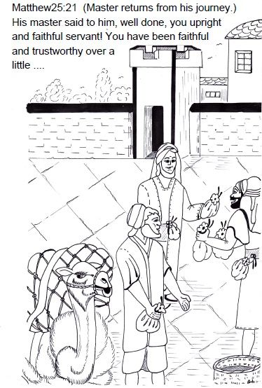 matthew 25 coloring pages - photo#22