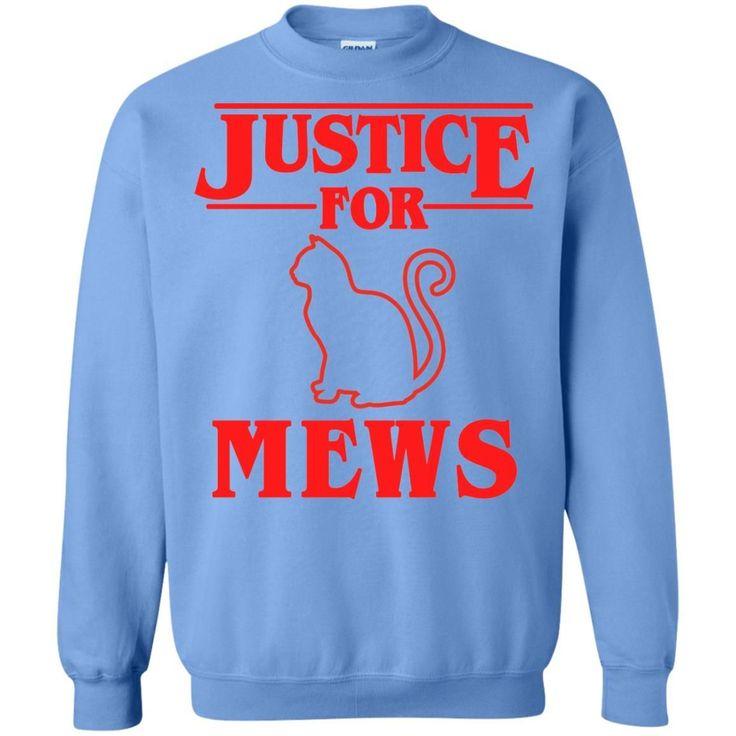 Justice for Mews Sweatshirt for Men Women Boys Girls Funny Cat Sweatshirt