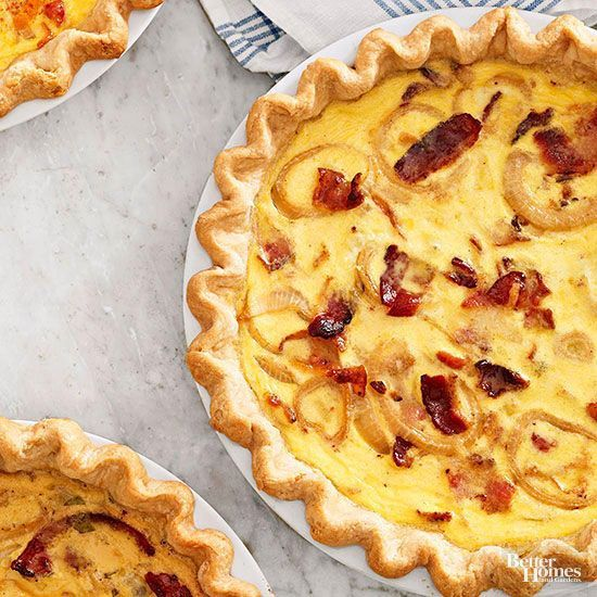 Learn the basics of making the perfect quiche, then check out our favorite quiche recipe, along with variations featuring delicious crusts and fillings.