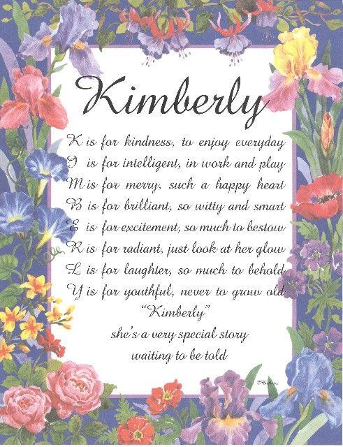 kimberly original name poetry