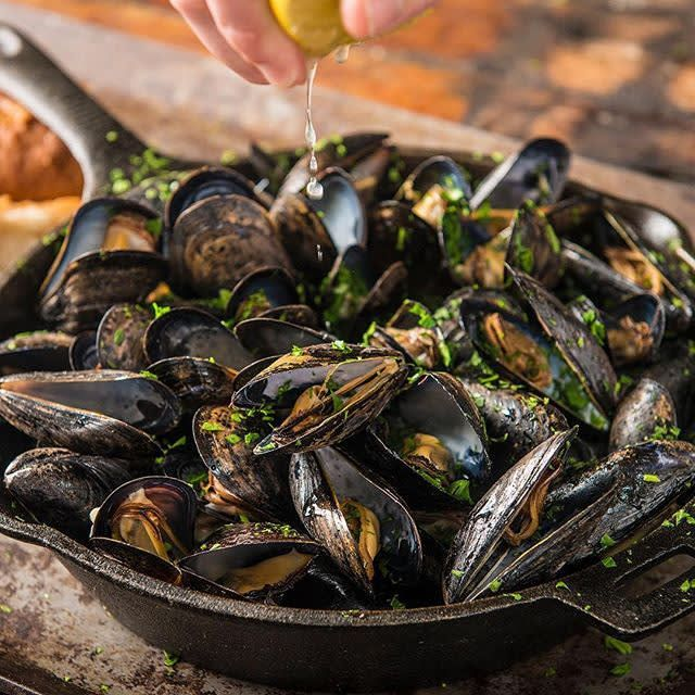 Grilled Mussels with Lemon Butter Recipe | Traeger Wood Fired Grills